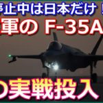 【F35A実戦投入】飛行停止中は日本だけ!米空軍のF35Aが初の爆撃任務を実施